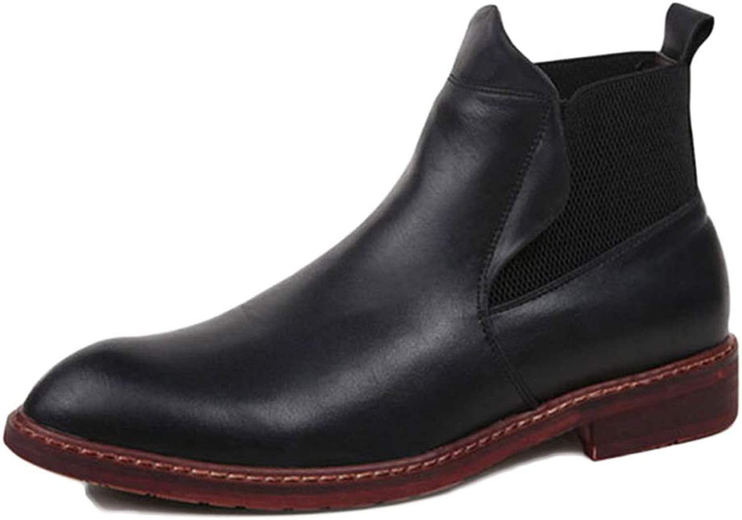 Men's Boots Chelsea Boots Black Leather Wedding Safety Brock Classic High Help