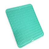 """Best Dish Drying Mats - Silicone Dish Drying Mat Heat Resistant Trivet 15.9"""" Review"""