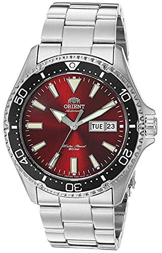 Orient Men's Kamasu Japanese Automatic Diving Watch with Stainless-Steel Strap, Silver, 22 (Model: RA-AA0003R19A)