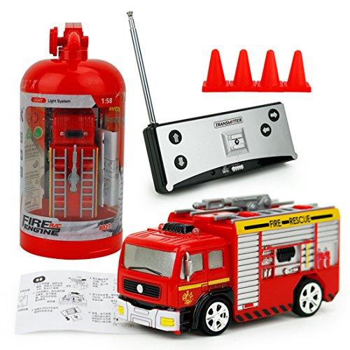 RC Feuerwehrfahrzeug, Vicoki Ferngesteuert Mini Ferngesteuertes Fahrzeug Feuerwehr Auto Spielzeug*