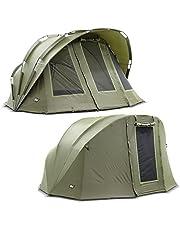 Lucx® Bobcat Bivvy + Winterskin 1 hasta 2 personas tienda de campaña + Overwrap para 2 personas + funda para pesca + tienda de campaña