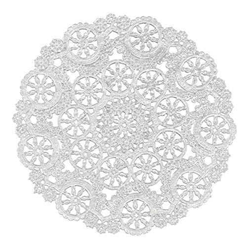 Royal Consumer Medallion Lace Round Paper Doilies, 4-Inch, Pack of 40 (B23001), White