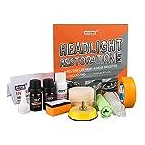 HGKJ Headlight Restoration Kit - Restores Oxidation,Hazy,Yellow,Scratch - Car Headlight Cleaner (Headlight Restoration Kit)