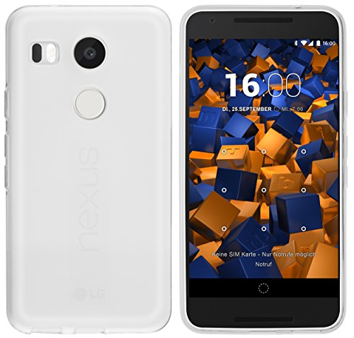 mumbi Funda Compatible con LG Nexus 5X Caja del teléfono móvil, Blanco Transparente