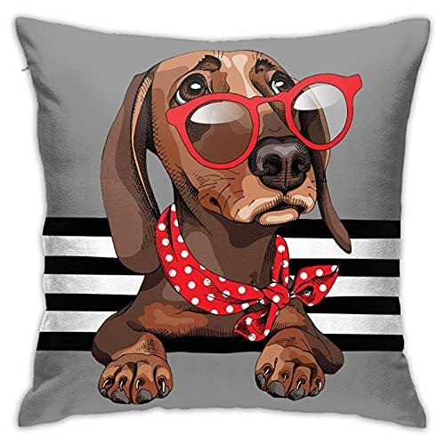 CHISHANG Hund mit Gses Bohemian Dekorativer Kissenbezug Luxuriöser Stil Kissenbezug Kissenbezug für Sofa Schlafzimmer