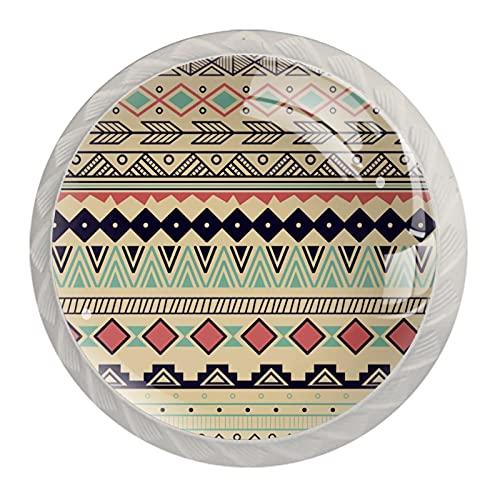 Redondo Blanco pomos India Bohemia Vintage para muebles de habitación infantil, para habitación infantil, armarios, cajones, baúles (4pcs) 35mm