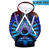 Suéter de Sonido eléctrico de impresión en Color 3D con suéter con...
