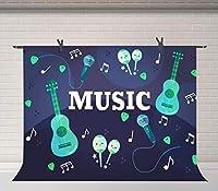 HD音楽背景7x5ftパーティーイベント写真撮影の背景写真スタジオの小道具DSFU178