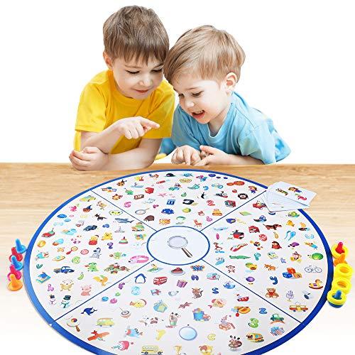 CENOVE Brettspiel Gedächtnisspiele, Gesellschaftsspiel für Kinder Familien Party, Detektiv Kinderspiele Bilder Matching Spiele für Kinder ab 3 4 5 6 Jahre