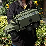 Wghz 1:16 2.4G 6WD RC Car Military Truck Rock Crawler Command Communication Vehicle RTR Auto Army Trucks Juguetes Control Remoto eléctrico Off Road Military Truck (Color: 3 Paquetes de baterías)