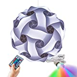 Geospace Geosphere Puzzle Lamp with Led Bulb & Remote (30 Piece), 16', White