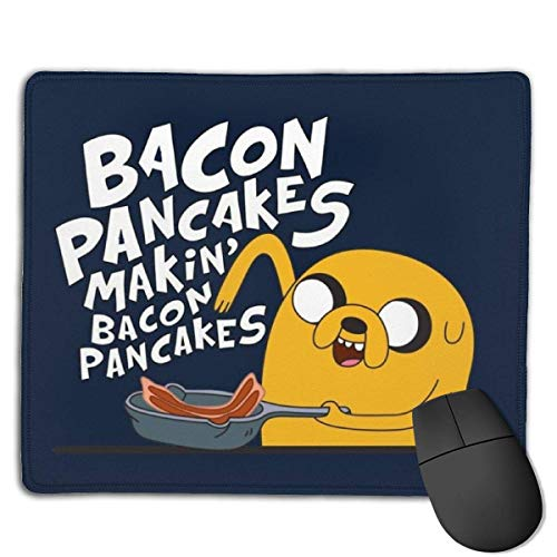 Mauspad Abenteuerzeit Jake The Dog Bacon Pancakes Kundenspezifische Designs Rutschfester Student 25X30Cm Gummibasis Bürogeschenk Anime Working Christmas Gaming Mauspads Computerspi