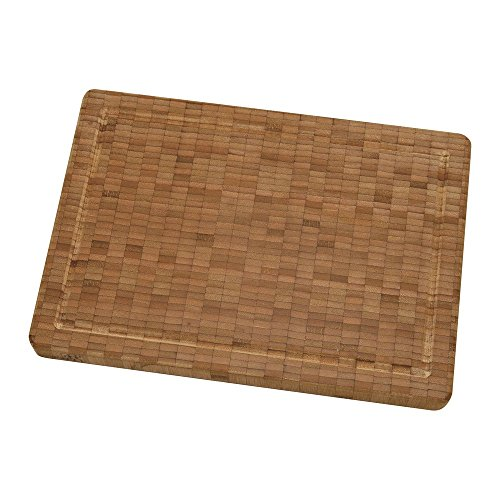 ZWILLING J.A. Henckels Bamboo Cutting Board, 14' x 10' x1.5', Stainless Steel