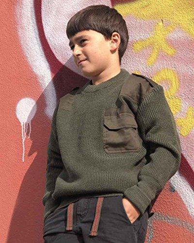Mil-Tec Com.Pullover Kids Pan Oliv Gr.S