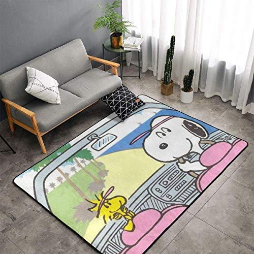haoqianyanbaihuodian Alfombra de dibujos animados para dormitorio, camping, suave alfombra para niños, niñas, guardería, hogar, habitación cómoda y duradera, alfombra de poliéster de 156 x 95 cm