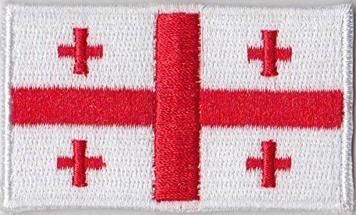 Flaggen Aufnäher Patch Georgien Fahne Flagge - 6 x 3,5 cm