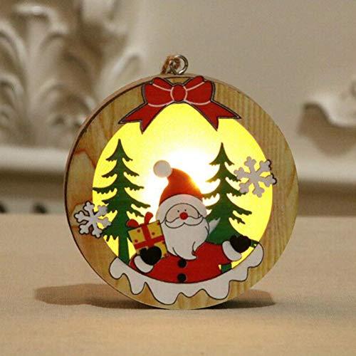 Phayee Draagbare kersthouten verlichting hanger decoratie, kerstverlichting, kerstboomversiering hanger, decoratie Xmas party hanging decor geschenk