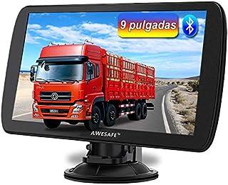 AWESAFE 2020 9 Pulgadas Navegador GPS para Camiones y Coches, con Bluetooth y Actualizaciones de Mapas de Europa para Toda la Vida