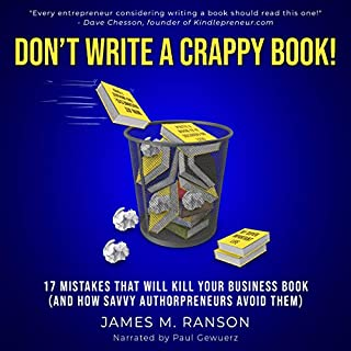 Don't Write a Crappy Book! cover art
