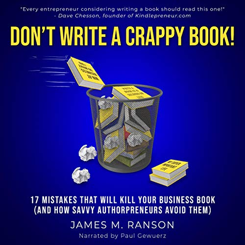 Don't Write a Crappy Book! audiobook cover art