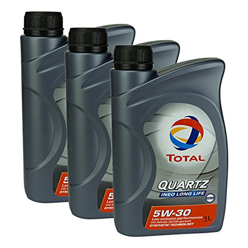 3x motorolie Total Quartz Ineo Long Life 5W-30 1L