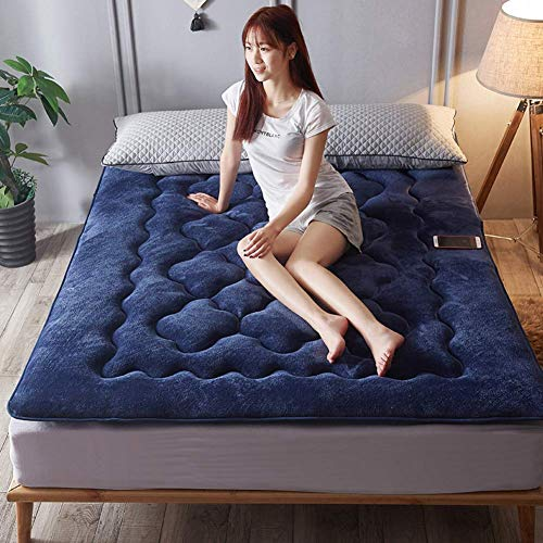 MWPO Thicken Flannel Not-slip Mattress, Home Single Double Portable Foldable Tatami Floor Futon Mattress-b 120x200cm(47x79inch)