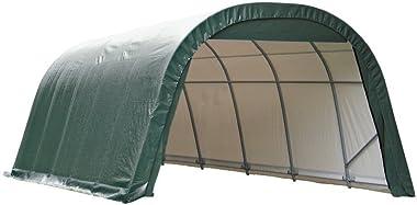 ShelterLogic 13x28x10 Round Style Shelter, Green Cover