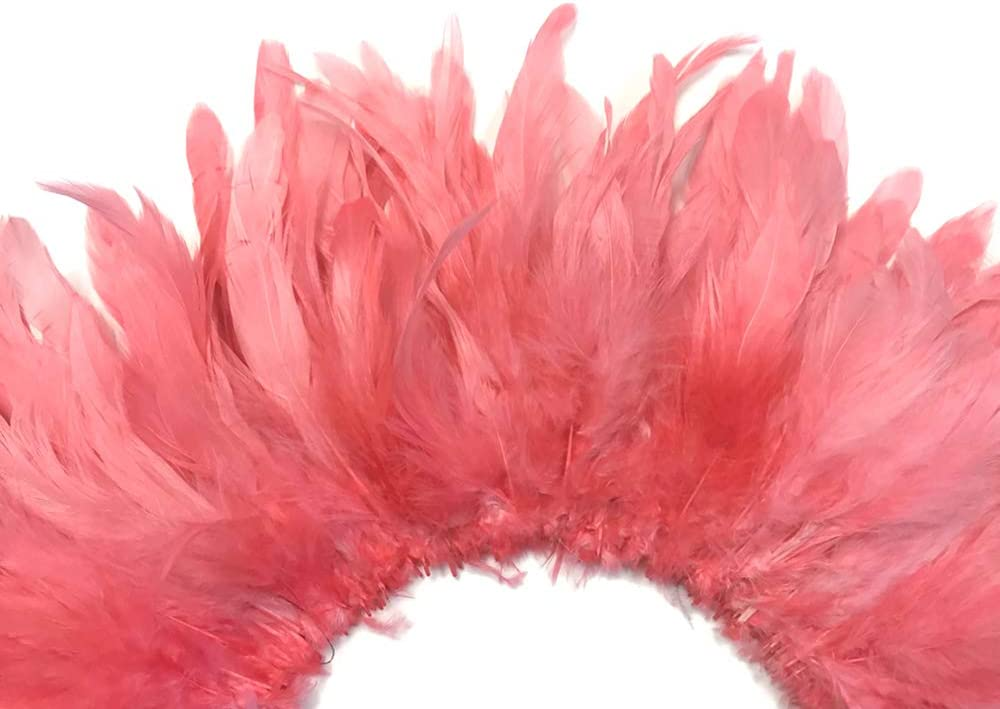 4 Inch Strip Los Angeles Mall - Coral Bleached Schlappen Rooster Sales Strung and Dyed