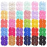 60Pieces 2 inches Baby Girls Hair Bows Clips Boutique Grosgrain Ribbon Bow Pinwheel Barrettes For Babies Kids Toddlers Teens Gifts In Pairs