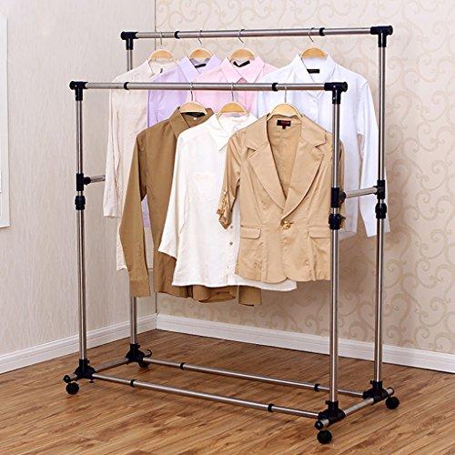 Étagère de séchage de vêtements, supports de séchage bipolaires, support de vêtements d'acier inoxydable, cadre de couette de séchage de balcon