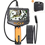 Teslong Auto Focus Endoscope with 4.5inch Screen, Autofocus Inspection Camera with 4.5in IPS Color Display, Waterproof Borescope, Adjustment Light, Tool Box(3m/9.84ft)