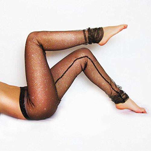 Black Mesh Glitter Sparkle Leggings/Sexy Leggings/Lace Tights/Sheer Leggings/Festival Attire/See-through Pants/Yoga Apparel