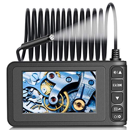Endoskopkamera Industrielles Endoskop - Fynllur Digitale Inspektionskamera Handheld mit 4,3-Zoll-LCD-Bildschirm 1080P Wasserdichte mit 32G-Speicherkarte für die Fahrzeuginspektion-3 Meter halbstarr