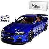 Nisan Skyline R34 GT-R GT-R Z-Tune Blau 1998-2002 Nr 743 1/18 Otto Modell Auto -