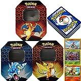 Friki Monkey Pokémon Random Pack Tin Box + 3 zufällige Reverse Holo's + 50 englische Karten