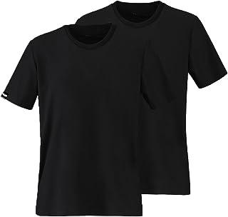 Kozy More クール 機能性 Tシャツ 接触冷感 スポーツTシャツ メンズ 撥水(疏水)加工 UVカット 吸汗速乾 消臭 トレーニングウェア 半袖Tシャツ スポーティー 夏服 ビジネス 肌着 Uネック 黒 白