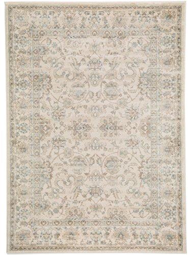 benuta Vintage Teppich im Used-Look Velvet Cream 140x200 cm | Moderner Teppich für Schlafzimmer und Wohnzimmer