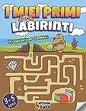 Labirinti per bambini 3-5 anni: Cerca e Trova Labirinti per bambini 4 anni | Libro vacanze prescolare Rompicapo e Enigmistica bambini | Attività prescolare Giochi e passatempi