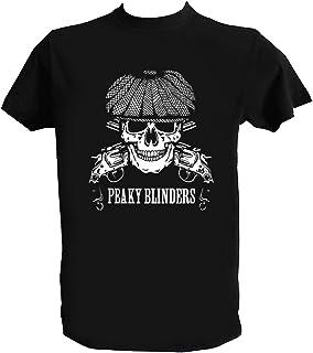 Desconocido Camiseta Craneo Hombre Niño Fan Art Tommy Shelby Series TV T Shirt