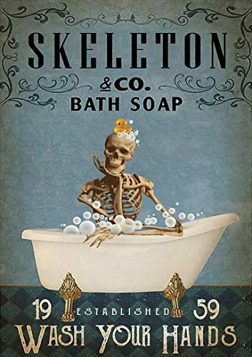 WOLFA Skeleton Co Bath Soap Wash Your Hands Poster Print Best Family, Home DecorGifts for Fan Lovers Posters No Framed