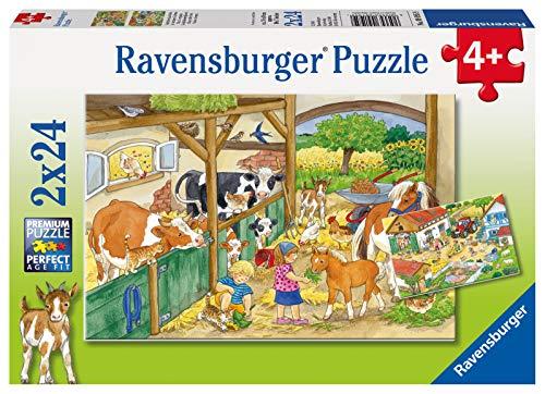 Ravensburger Italy- Vita di Campagna Puzzle, 2x24 Pezzi, Multicolore, 9195