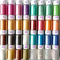 Daryl-s 32色 マイカパウダーマイカパールパウダーパールパウダー顔料スライム用パールパウダー 着色剤 手作り レジン染料 レジンジュエリー アーティスト ネイルアート 粉体塗料 アイシャドウ スライム slime