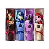 Amosfun 6 x künstliche Seifenblüten, Rosen, Geschenkbox, Valentinstagsgeschenk (zufällige Farbe).