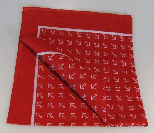 Buddel-Bini Versand Halstuch/Vierecktuch Anker 54x54 cm rot
