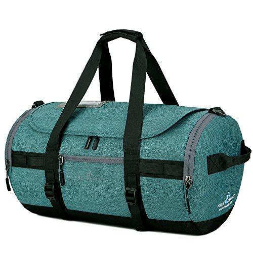 Eogro Bolsa de deporte impermeable para gimnasio, bolsa de viaje con correa para el hombro y compartimento para zapatos para hombres y mujeres