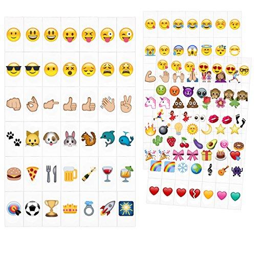 kwmobile Emoji Set LED Lichtbox - 126 Plättchen A4 Kino Lightbox - Deko Light Box Erweiterungsset - Licht Tafel Zubehör Herz Smiley Einhorn Symbole