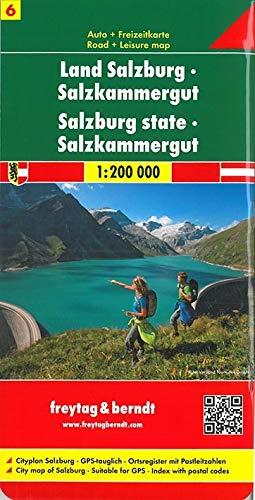 Berndt Freytag Autokarten, Blatt 6: Land Salzburg - Salzkammergut - Maßstab 1:200 000