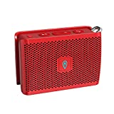 DOSS Genie Portable Bluetooth Speaker with Clean Sound, 33ft Bluetooth Range, Built-in Mic, Ultra-Portable Design, Wireless Speaker Compatible for Home, Outdoors, Travel - Red
