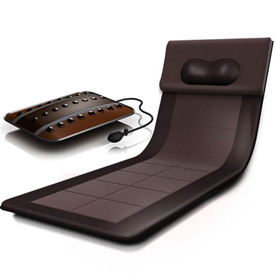 むき出しほのかラフトマッサージマット8モードの暖房パッド、9振動モータマッサージマットレスパッドは、クッションマッサージャーフルボディは、痛みを和らげる(サイズ-58 * 174センチメートル)