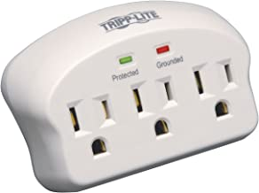 Tripp Lite 3 Outlet Portable Surge Protector Power Strip, Direct Plug In, & $5,000 INSURANCE (SK3-0)